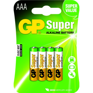 Batteri AAA (LR3) 4-pack - GP Super Alkaline