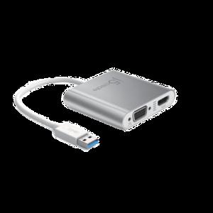 USB-Grafikkort J5 USB 3.0 to HDMI VGA Flerskärmsadapter, 1080p, USB 3.0, silver
