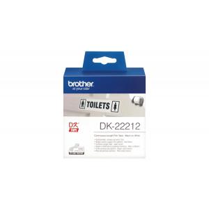 Brother DK-22212 Svart på vitt DK etikett-tejp