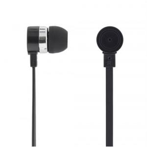 Headset - In-Ear med mikrofon och svarsknapp svart