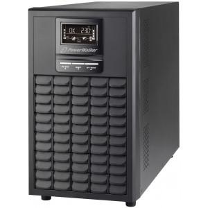 PowerWalker VFI 3000 CG PF1 Double-conversion (Online) 3000VA 9AC outlet(s) Torn Svart strömskydd (UPS)