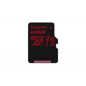 microSD Kingston 64GB microSDHC Canvas React 100/80 U3 UHS-I V30 A1 w/o Adaptr
