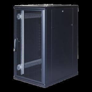 """TOTEN System G, 19"""" golvskåp, 22U, 600x800, perforerad dörr fram, perf G3.6822.9801"""