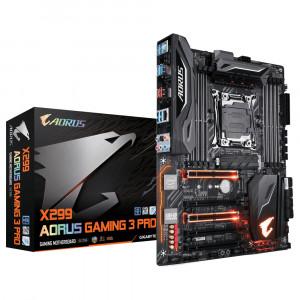 Moderkort Gigabyte X299 AORUS Gaming 3 Pro Intel X299 LGA 2066 ATX moderkort