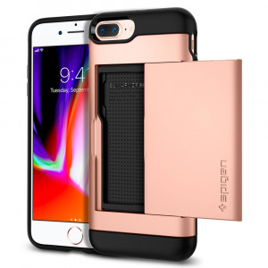 Skal Spigen iPhone 8-/7-Plus Case Slim Armor CS Blush Gold