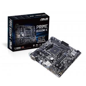 ASUS B350M-K Socket AM4 AMD B350 Micro ATX