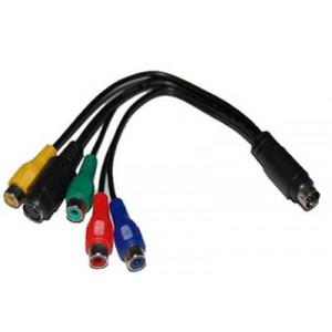 Kabel Svideo 7-pin - Komponentvideo + Svideo 4-pin