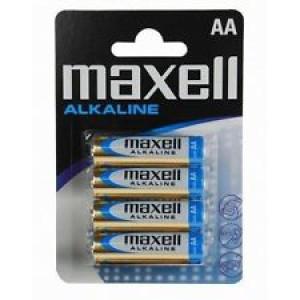 Batteri AA (LR6) 4-pack - Maxell Alkalisk