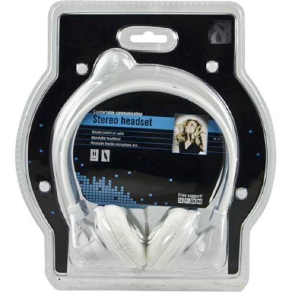Deltaco HL-7V Huvudband Vit headset