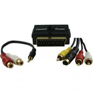 Kabel DVD-Kit 3.5mm/RCA/Svideo Guldpläterat  5m*