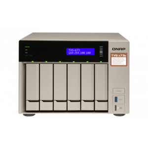 "QNAP TVS-673e högpresterande NAS, 6x 3,5""/2,5"" fack, Radeon R7 GPU, si TVS-673e-8G"