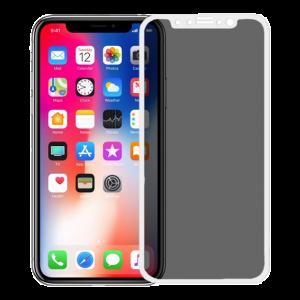 iPhone X / Xs anti spy glass white
