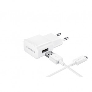 Laddare USB Adapter + Kabel Samsung Original Kit