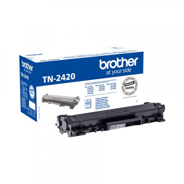 Brother TN-2420 Laserpatron 3000sidor Svart Tonerkassett
