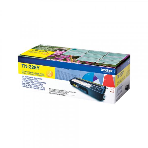 Brother TN-328Y Tonerkassett Lasertoner 6000 sidor Gul