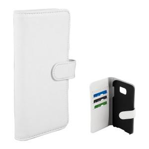 Fodral - Samsung Galaxy S7 - Plånboksfodral Vit