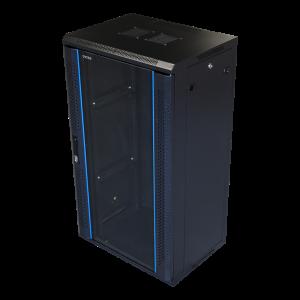 "19"" 22U black wall mounted cabinett"
