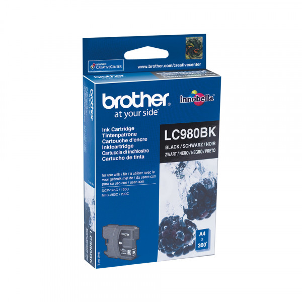 Brother LC-980BK Svart bläckpatroner