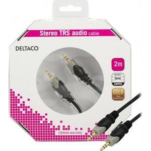 Ljudkabel Aux 3.5mm hane - 3.5mm hane (2m) GOLD