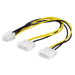 Adapter Ström 4-pin Molex x 2 - 6-pin PCI-E