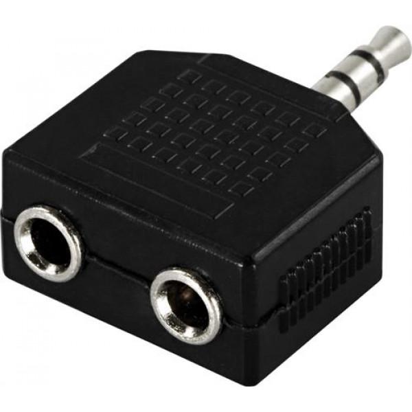 Audioadapter 3.5mm - 3.5mm x 2 (ha-ho)