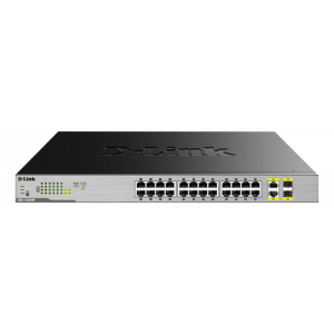 D-Link DGS-1026MP Ohanterad Gigabit Ethernet (10/100/1000) Strömförsörjning via Ethernet (PoE) stöd Svart, Grå network switch