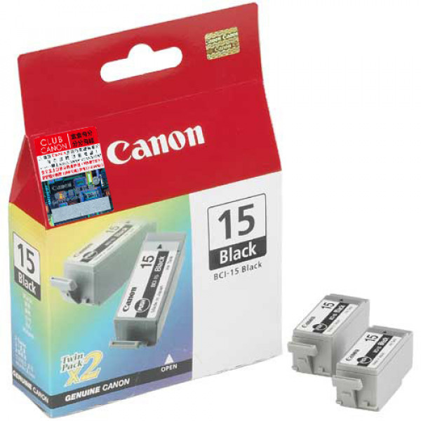 Canon BCI-15BK Black (Original) 2-pack