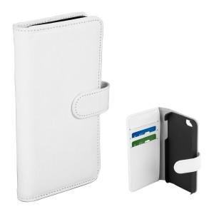 Fodral - iPhone 5/5S/SE - Plånboksfodral Vit