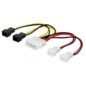 Adapter Ström 4-pin molex - 3-pin x 4