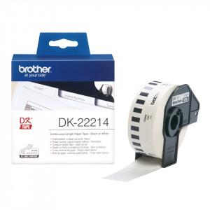 Brother DK-22214 Svart på vitt DK etikett-tejp