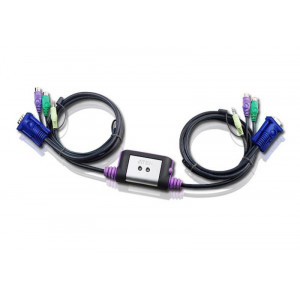 KVM-Switch 2-port PS2 - Aten.