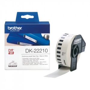 Brother DK-22210 Svart på vitt DK etikett-tejp