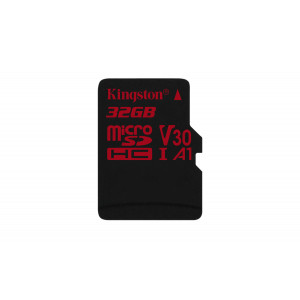 microSD Kingston 32GB microSDHC Canvas React 100/70 U3 UHS-I V30 A1 w/o Adapt