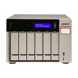 QNAP TVS-673E NAS Torn Nätverksansluten (Ethernet) Grå