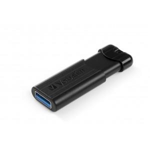Verbatim PinStripe 64GB 2.0/3.0 (3.1 Gen 1) USB A-typ kontakt Svart USB-sticka