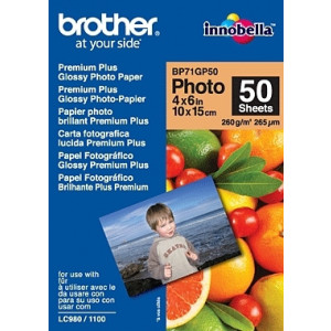 Brother BP71GP50 Premium Glossy Photo Paper Vit fotopapper