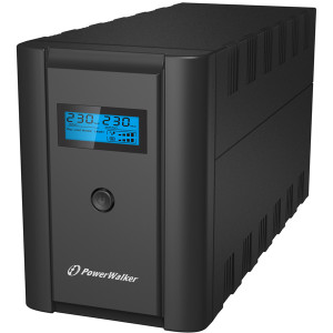 PowerWalker VI 1200 SHL Schuko Linjeinteraktiv 1200VA 4AC outlet(s) Torn Svart strömskydd (UPS)