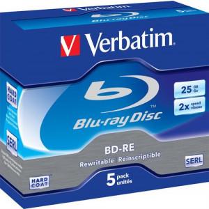 Verbatim 43615 tomma Blu-Ray-diskar BD-RE 25 GB 5 styck