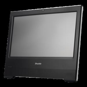 "AIO 15,6"" Shuttle X50 v5U3 Barebone Touch, Intel i3 6100U, svart"