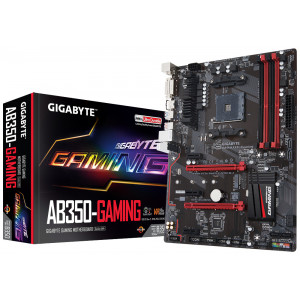 Gigabyte GA-AB350-Gaming AMD B350 Socket AM4 ATX moderkort