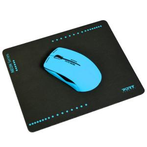 Port Designs 900500 optisk 1200DPI Ambidextrous Blå datormöss