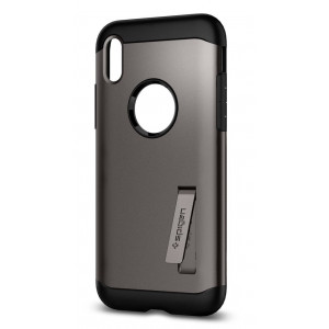 Skal Spigen iPhone X Slim Armor Cover case metallisk