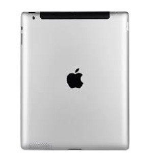 MB Bakstycke Ipad vit*  back cover silver