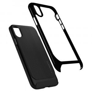 Skal Spigen iPhone X 2017 Case Neo Hybrid Shiny Black