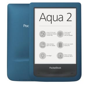 """E-bokläsare Pocketbook AQUA 2 6"""" Pekskärm 8GB Wi-Fi Turkos"""