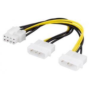 Adapter Ström 4-pin Molex x 2 - 8-pin PCI-E