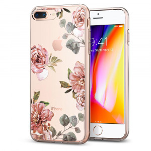 Skal Spigen iPhone 8-/7-Plus Case Liquid crystal Aquarelle Rose