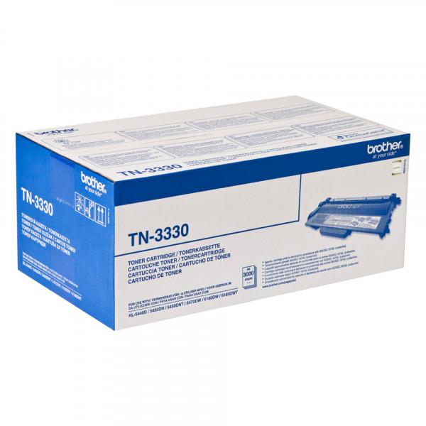 Brother TN-3330 Lasertoner 3000sidor Svart Tonerkassett