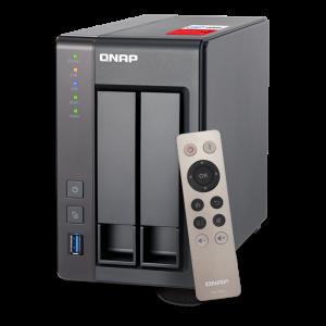 Qnap TS-251+-2G - 2-disk NAS, Intel Quad Core Celeron, 2GB RAM, svart TS-251+-2G (2GB RAM)