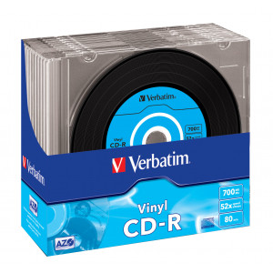 Verbatim CD-R 52X (10-pack) jewelcase Vinyl